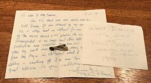 WALT-DISNEY-1958-Worn-Used-Owned-Tie-Clasp-Disney-Wardrobe-Prop-COA-PROVENANCE