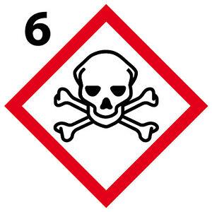 10cm Mortel Plaque magnétique danger interdit obligatoire GHS6