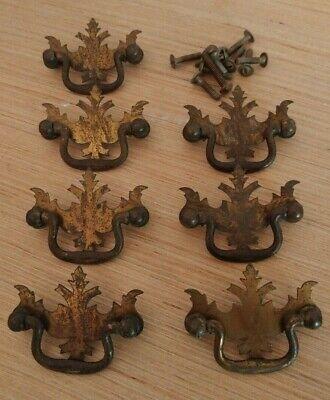 Furniture salvageMetal salvage pullVintage drawer handleBrass metal ornate drawer pullVintage metal handleCabinet handleDoor handle