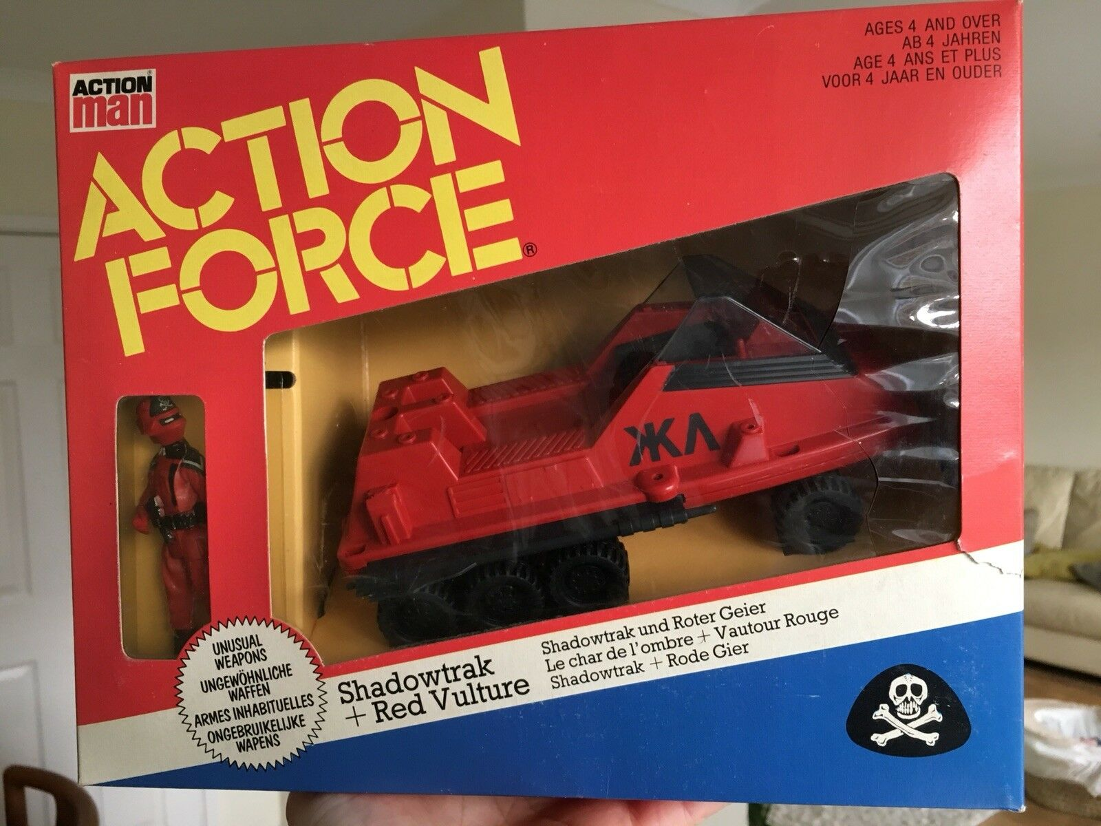 Palitoy Action Force rot Shadows Shadowtrak MISB Gi Joe Factory Sealed Dutch Ver
