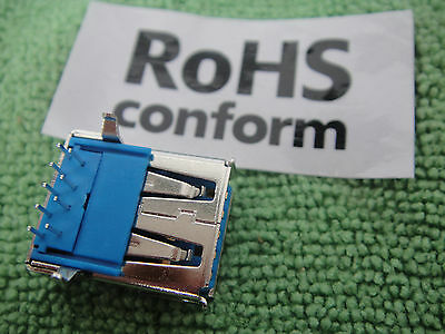 Lot10 Hi-Speed USB 3.0 Jack A Female 9 Pin Dip Solder Socket Connector Rohs US20