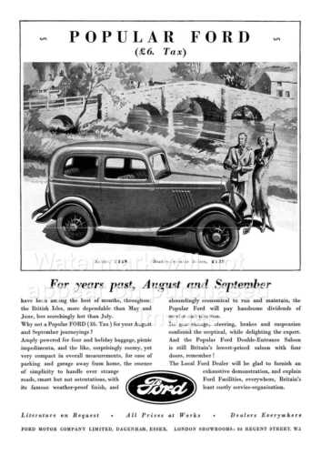 old magazine  advert Reproduction. Wall art Popular Ford poster