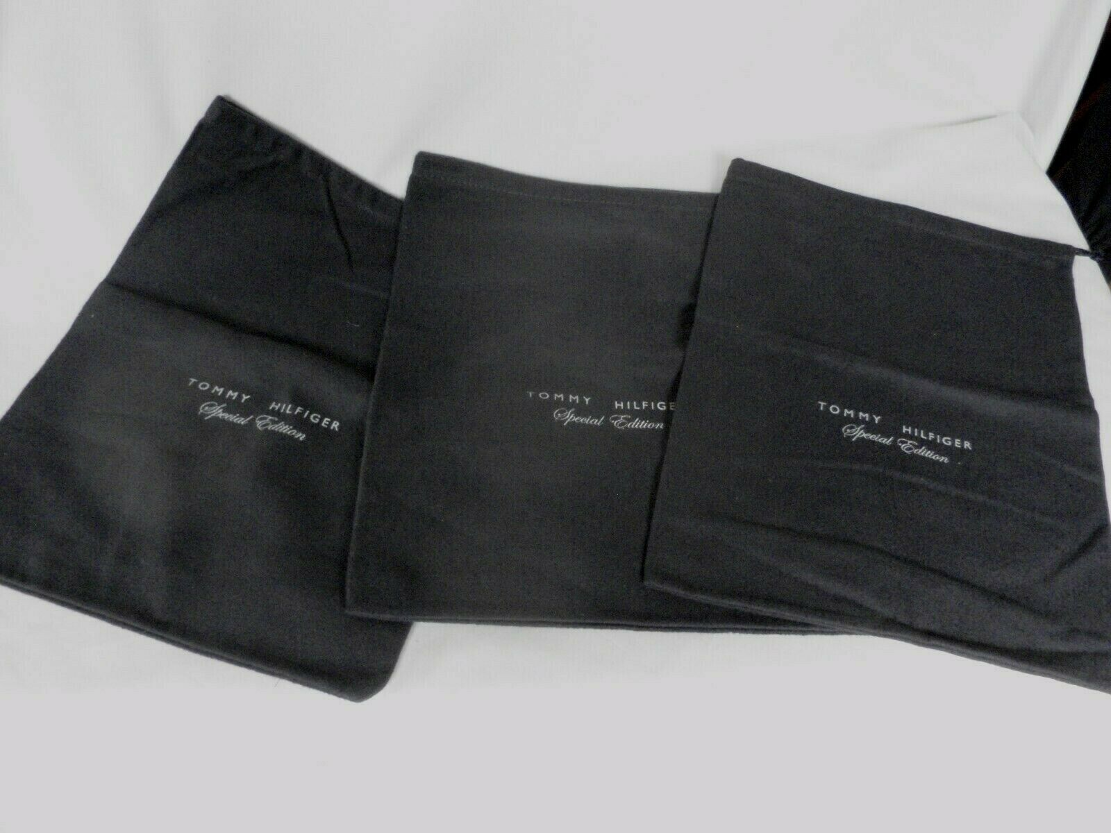 Tommy Hilfiger Blue Cotton Boots Size Dustbags Bags 1.5 pair Special Edition