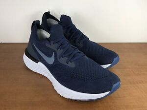 Nike-Epic-React-Flyknit-Running-Shoes-AQ0067-402-Navy-Blue-Men-039-s-Size-11