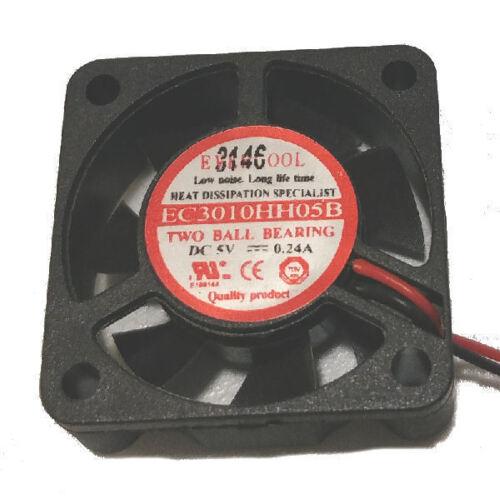 2Pin EverCool EC3010HH05B 30mm x 10mm 5V EL bearing Fan