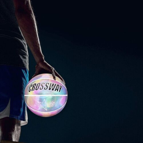 HoloGear Holographic Glowing Reflective Basketball Glow in The Dark Basketball