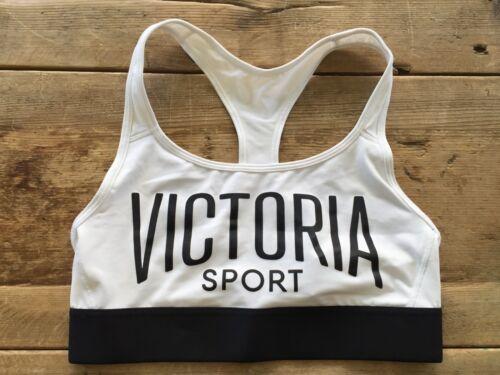 VICTORIA/'S SECRET SPORT WHITE RACER LOGO THE PLAYER WIRELESS SPORT BRA NEW VS