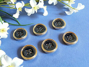 771b-Chequerboard-Buttons-034-Blue-and-Gold-034-Enamel-Night-Lot-6-Ep-1970