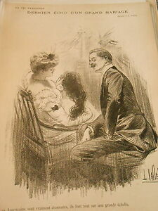 Dernier écho D'un Grand Mariage Les Américains Sont étonnant Print Art Déco 1906 O9ay1nl6-07163831-374789126