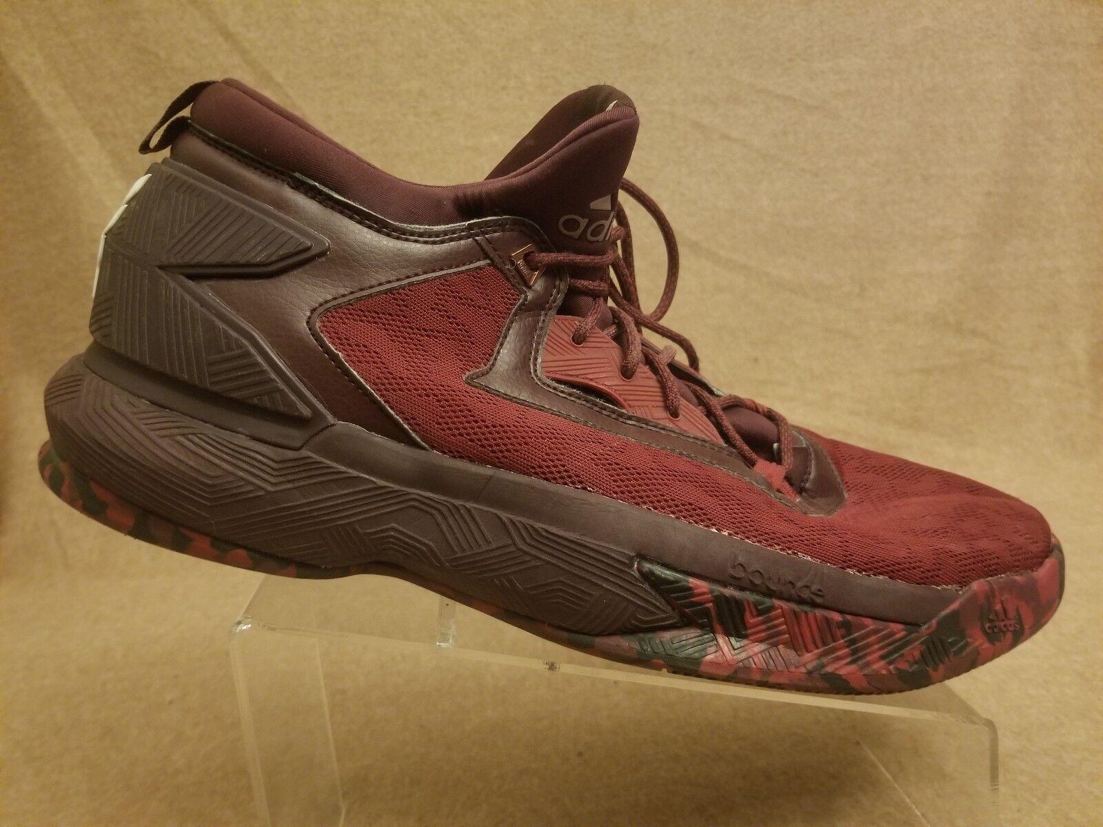 Adidas D Lillard 2 B42382 Damian Burgundy Maroon Basketball Sneaker Men Size 15