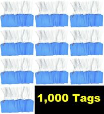 1000 Pcs 4 34 X 2 38 Size 5 Blue Cardstock Hang Tag Tags With Wire 13 Pt