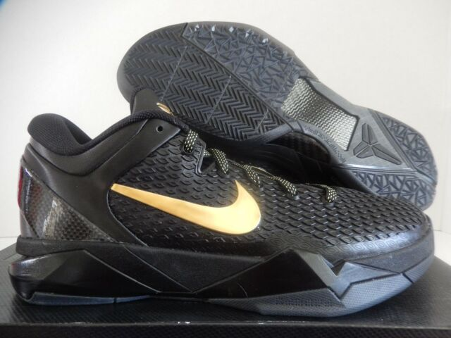 sports shoes 9a500 569c9 NIKE ZOOM KOBE VII 7 SYSTEM ELITE BLACK-METALLIC GOLD-GREY SZ 8
