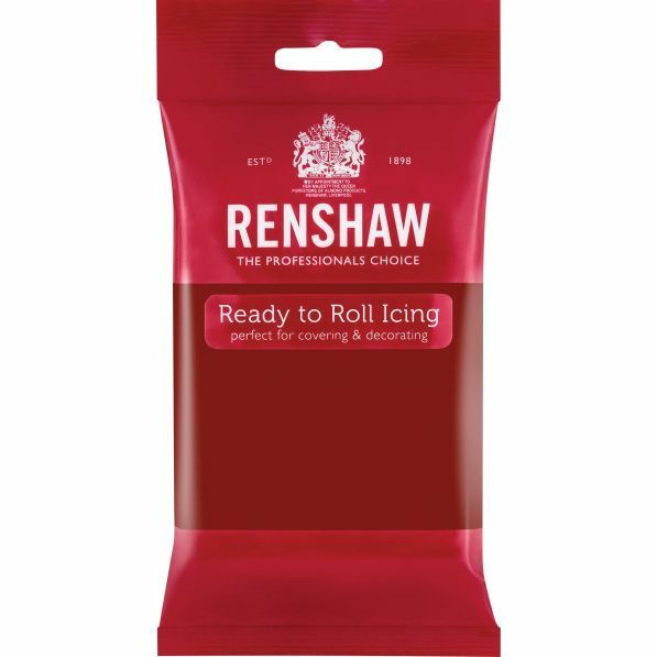 Renshaw Ready To Roll Icing Fondant Cake Regalice Sugarpaste 250g RUBY RED
