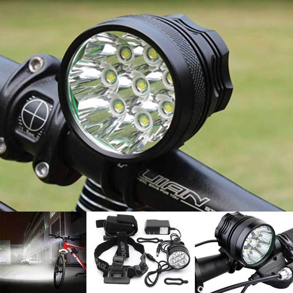 Bike Light 12000  LM 8 LED XM-L T6 LED Bicycle Bike Headlamp Light Torch&Battery  100% authentic