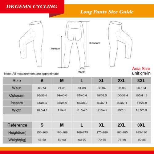 Black Mens Cycling Long Bib Tights Bike Riding Bottoms Clothing Pants Brace Pro
