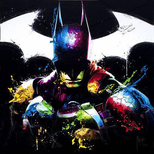 Batman par Patrice Murciano Rock Ardoise Art Imprimé disponible en 3 tailles