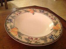 "Mikasa Garden Harvest Soup Bowl Pasta Salad Rimmed CAC29 NICE! 9-3/8"" dia"