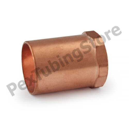 "1/"" C x 1//2/"" Female NPT Threaded Copper Adapter"