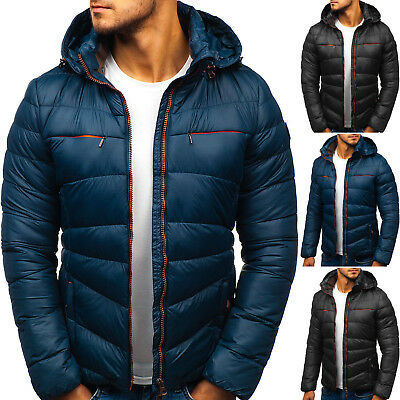 BOLF Winter Jacket Puffer Lined Quilted Hooded Bubble Warm Mens 4D4 Classic