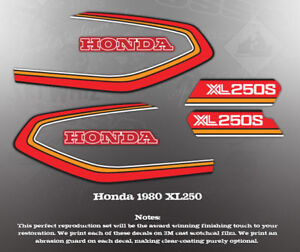 HONDA 1975 GL1000 FAUX TANK DECAL GRAPHIC SET LIKE NOS RED MODEL