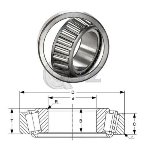 1x 1988-1922 Tapered Roller Bearing QJZ New Premium Free Shipping Cup /& Cone Kit
