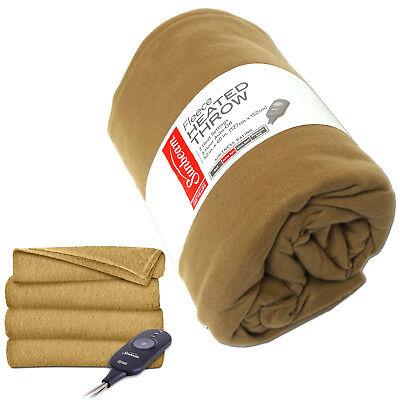 Sunbeam Electric Heated Throw Blanket 50x60 Fleece Soft