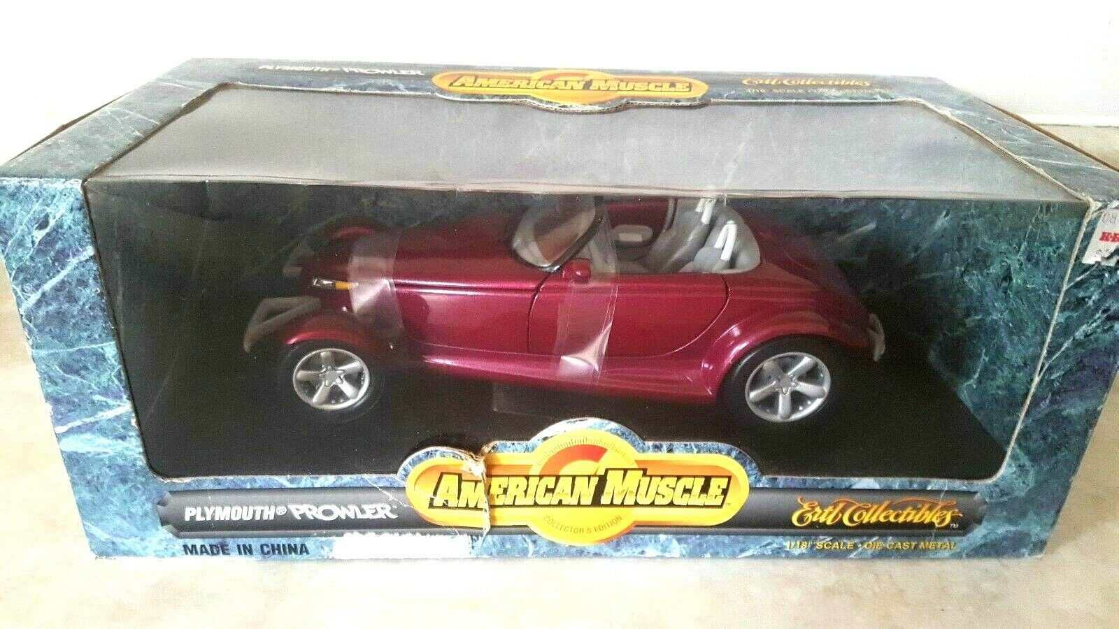 AMERICAN MUSCLE Diecast 1 18 Plymouth Prowler Purple With With With Box and Straps ERTL ab5073