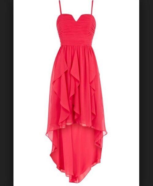NUOVO con etichetta  COSTA    Taglia 16 Yessica Vestito con Orlo alta bassa Prom abito da ballo party rosa ad9964