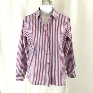 8dd9bca27 Image is loading Foxcroft-Womens-Button-Down-Shirt-Wrinkle-Free-Shaped-
