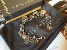 SILPADA Brass Copper Cha-Cha Bracelet Pearl Tiger's Eye Sterling Silver B1853.