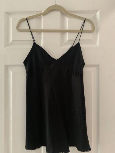 Vince Black 100% Silk Camisole, Sz 10 - image 1