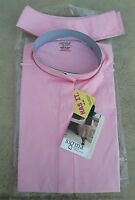 Sigma Elegance $39 Pink Short Sleeve Cotton Ratcatcher Show Shirt 32 34 36