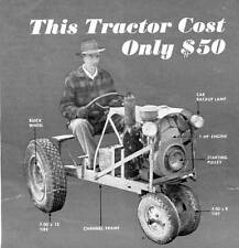 How To Make A Tractor Very Low Cost Garden Yard Farm Bulldozer Build #136