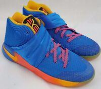 Nike Kyrie II 2 PROMO EYBL Basketball Gold Blue Shoes Size 6.5 Youth 848974-470