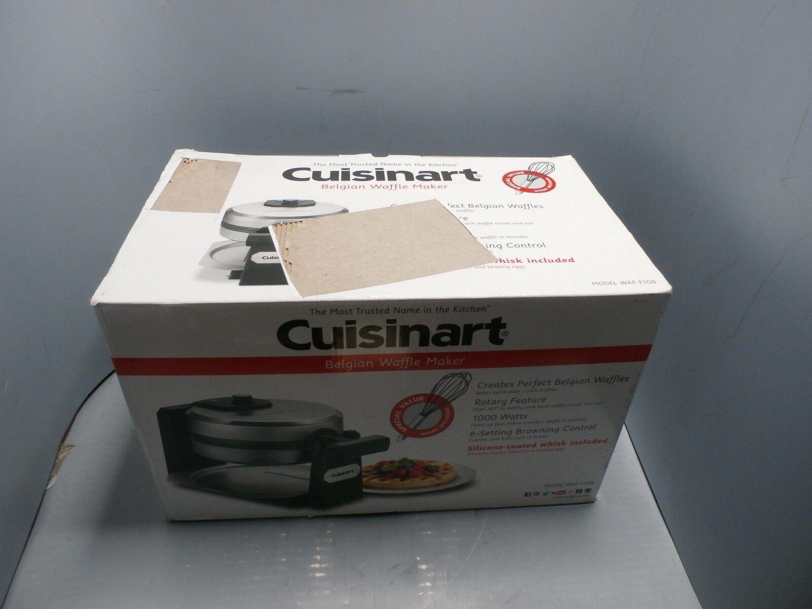 New Cuisinart Belgian Waffle Maker Stainless Steel WAF-F10B