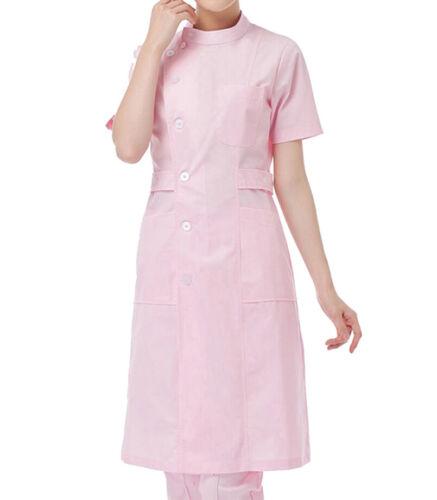 Women Short Sleeve Nurse Uniform Lab Uniform Coat CF9007
