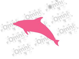 6 delfino silhouette adesivo parete in vinile decalcomanie per bagno