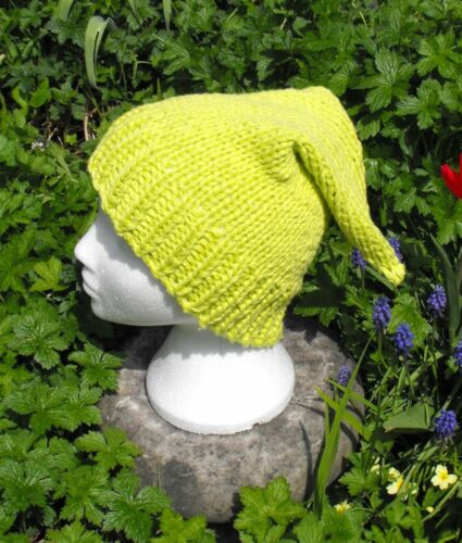 PRINTED KNITTING INSTRUCTIONS-GARDEN GNOME PIXIE ELF HAT KNITTING PATTERN