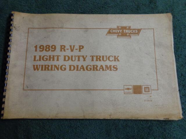 1989 Chevrolet Duallie    Blazer    Suburban Truck    Wiring