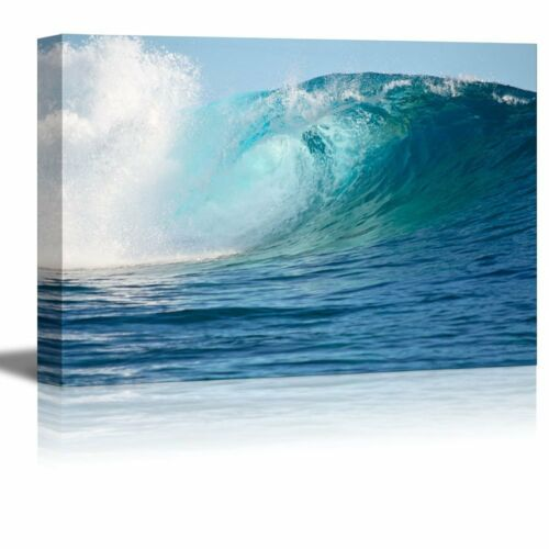 "Wall26 A Big Wave Break Spray in the Pacific Ocean 24/"" x 36/"" Canvas Prints"