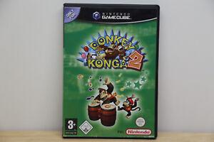 Donkey-Konga-2-Hit-Song-Parade-Nintendo-GameCube-2005-DVD-Box-W-NEU-OVP