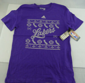 Boys-Adidas-Lakers-T-Shirt-The-Go-To-Tee-Purple-Large-14-16-NBA-Liensed-NWT