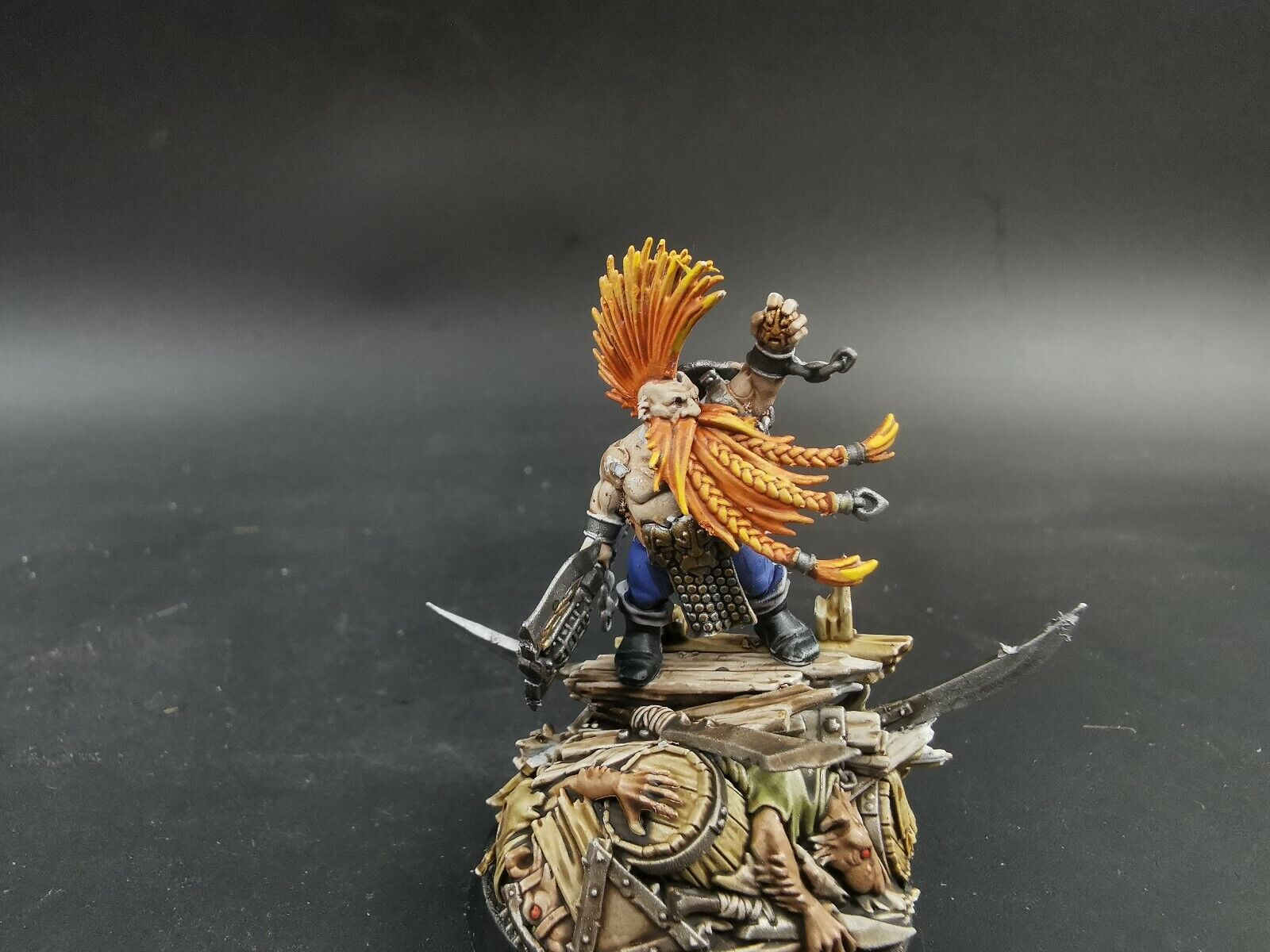 Pro painted warhammer AoS Fyreslayers Gotrek Gurnisson