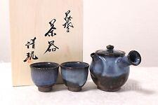 Hagi yaki ware Japanese tea pot cups set daru Seigan pottery tea strainer 470ml