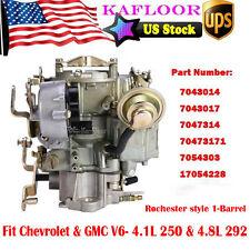 1-Barrel Carb Carburetor For Chevrolet Chevy GMC V6 6CYL 4.1L 250 4.8L 292