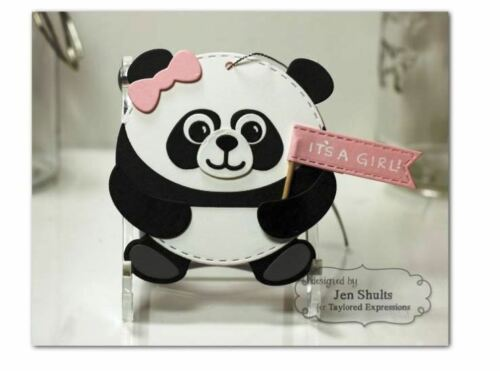 Taylored Expressions Cutting Die Set ROLY POLY ~ PANDA Animal Bear  ~TE739
