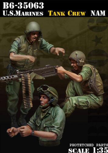 Bravo6 1:35 USMC Tank Crew Vietnam - 3 Resin Figures #B6-35063