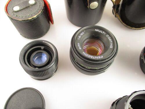 M42 set Pentacon 50 mm//29 mm//135 mm objetivamente set analógico digital