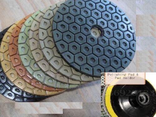 7 Inch Diamond Polishing Pads 12 PIECE /& Backer Pad Granite Concrete fabrication