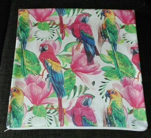 Kissenhülle Kissenbezug Papagei grüne Blätter Dschungel alle Größen Handarbeit